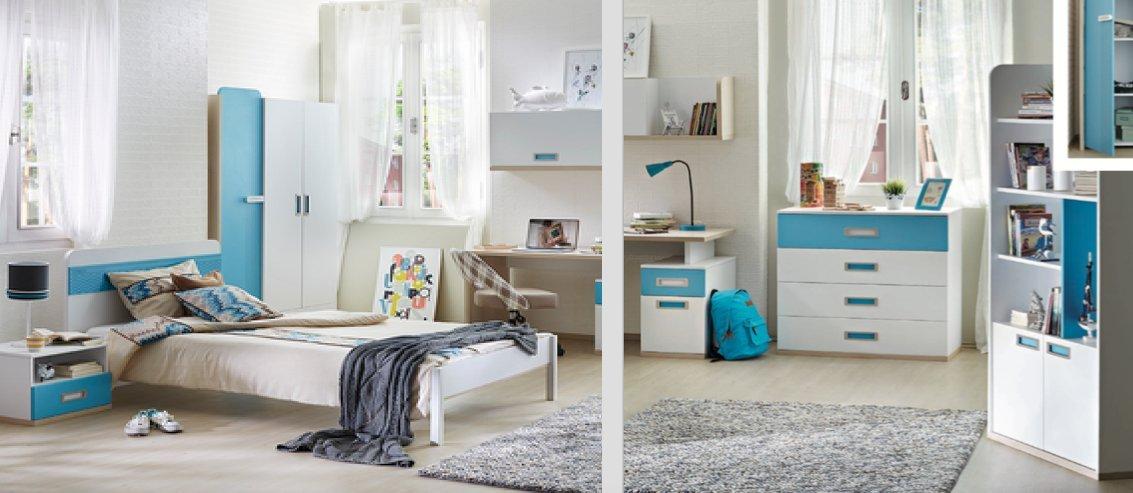 Jugendzimmer Set Summer Sun Mit Schreibtisch Kleiderschrank