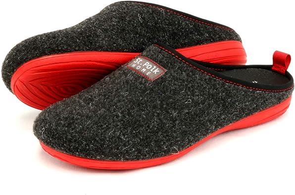 St.Polk® Zapatillas casa Mujer/Hombre Slippers Pantuflas de Estar por casa Fabricadas España Original Unisex Invierno/Verano máxima Comodidad Suela Caucho Plantilla Extraible: Amazon.es: Zapatos y complementos