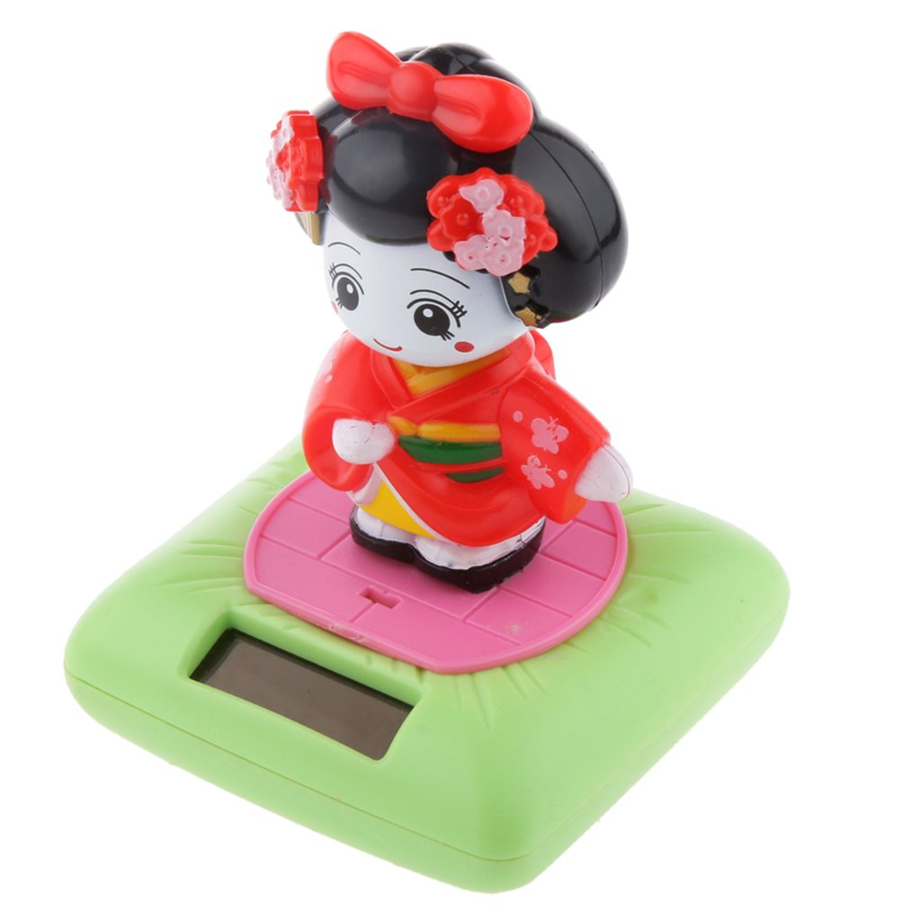 Solarbetriebene Bobblehead Spielzeug-Abbildung Nohohon Japanischen Kimono Maiko Geisha #A Generic