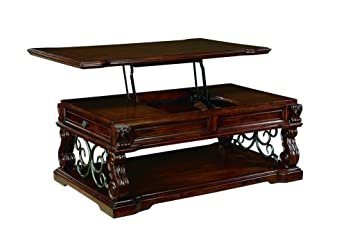 Superior Ashley Furniture Signature Design   Alymere Lift Top Coffee Table    Cocktail Height   Rectangular