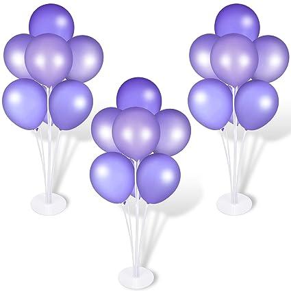 Amazon.com: Juego de 3 soportes para globos de mesa, poste ...