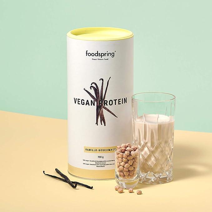 foodspring Proteína Vegana, Vainilla, 750g, Proteína de ...