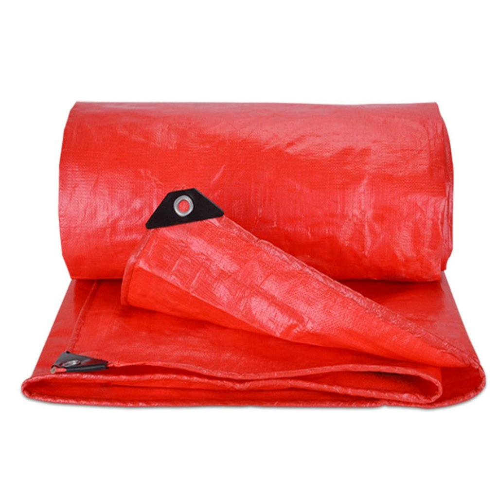 Plane Persenning Rote wasserdichte dauerhafte Qualitäts-Hochleistungsplanen-Zelt-Unterlage für kampierendes und UVschutz im Freien - Stärke 0.5mm, 550g   m², Multi-Größe Abdeckplanen (größe   8MX10M)