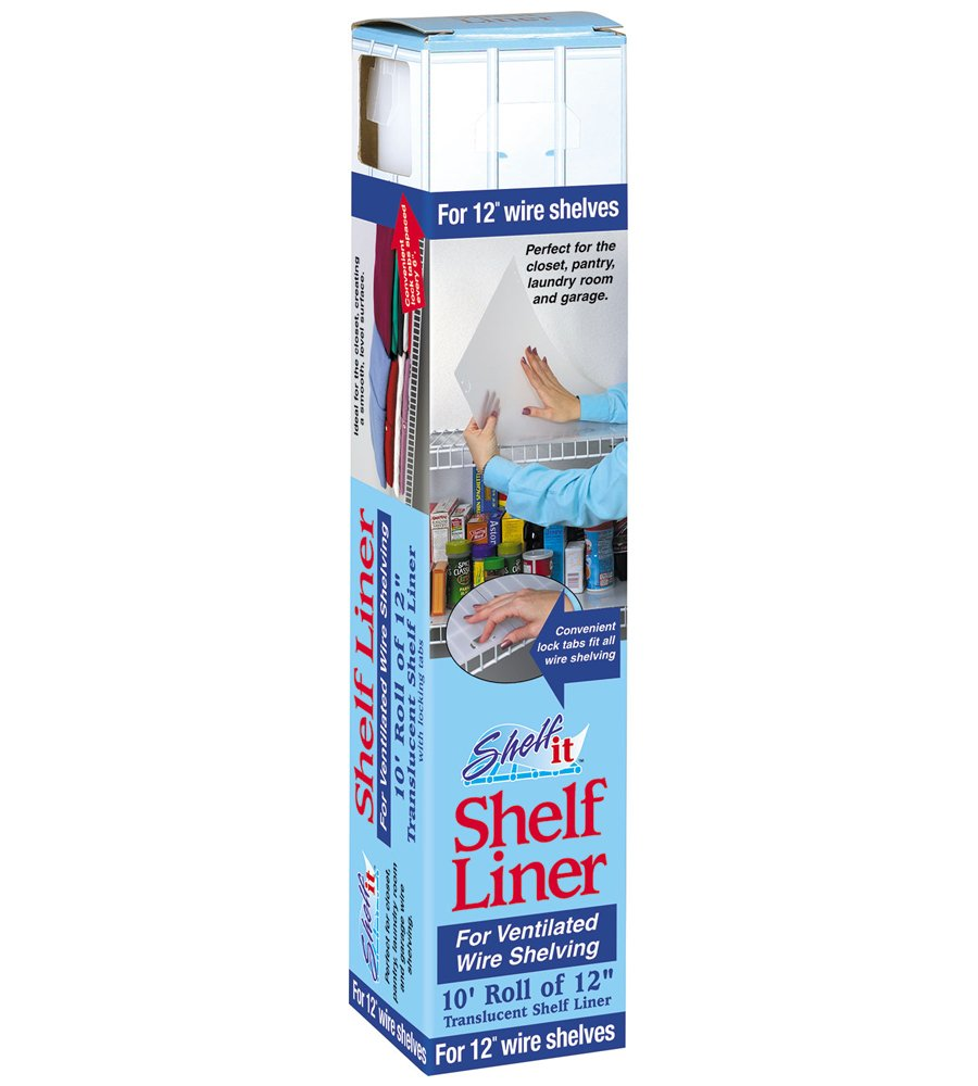 "Shelf-it Liner for 12"" Wire Shelving with Locking Tabs - 10 Foot Roll"