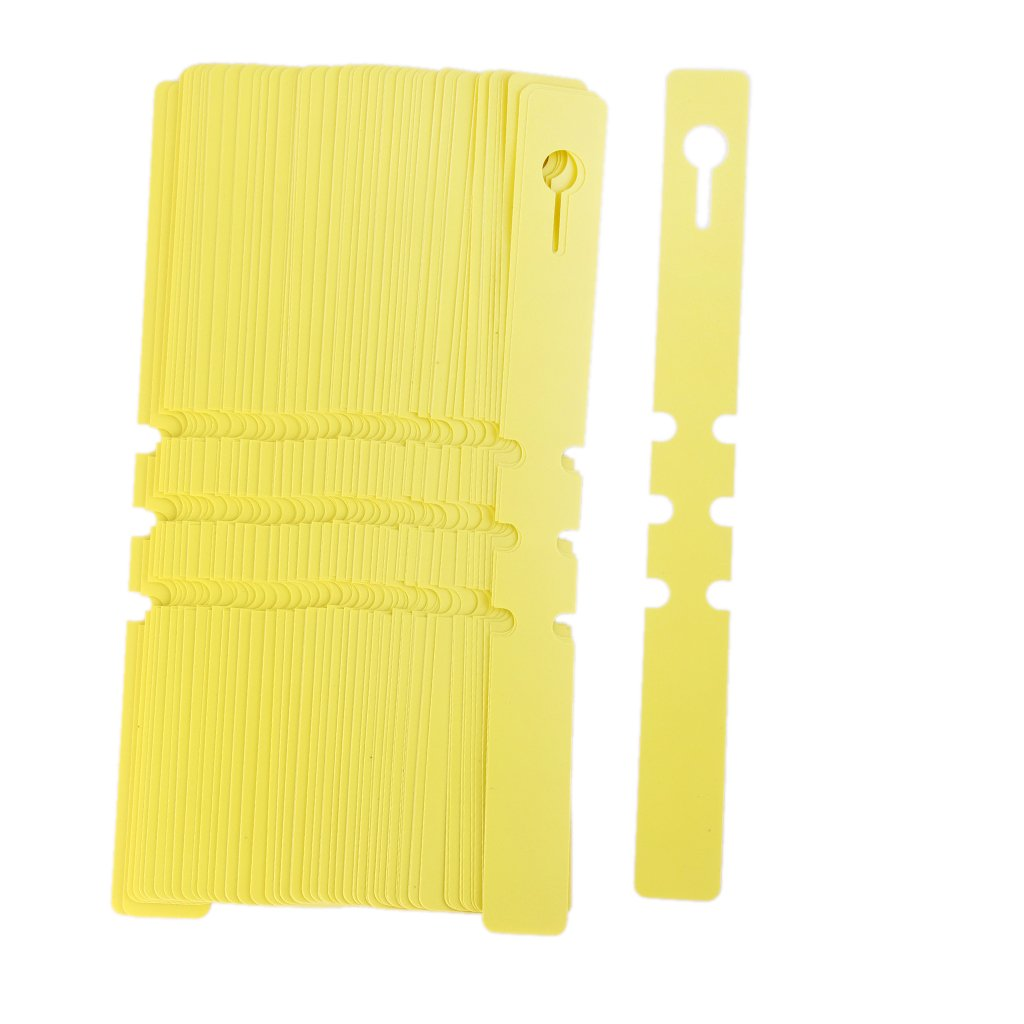 Generic 100pcs PVC Greenhouse Gardening Plant Stake Hanging Collar Tag Label Yellow (B019C53Y7O) Amazon Price History, Amazon Price Tracker