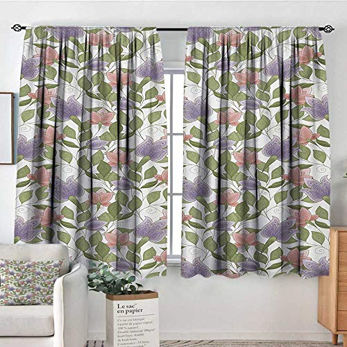 All of better Floral Window Curtain Drape Pastel Tone Tulip Flower Aged Ottoman National Symbol Petals Image Drapes for Living Room 72