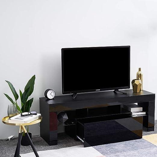 Hampton & Stewart - Soporte LED para televisor (130 cm), Color Blanco y Negro: Amazon.es: Hogar