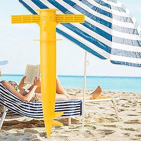 Acreny Ombrellone Inserimento Regolabile Sole Spiaggia Portaombrelli Punte Pesca Parasole Ancoraggio a Terra Supporto Blu