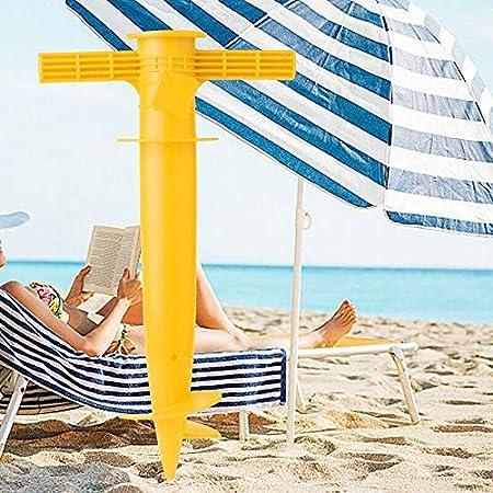 Blu Acreny Ombrellone Inserimento Regolabile Sole Spiaggia Portaombrelli Punte Pesca Parasole Ancoraggio a Terra Supporto