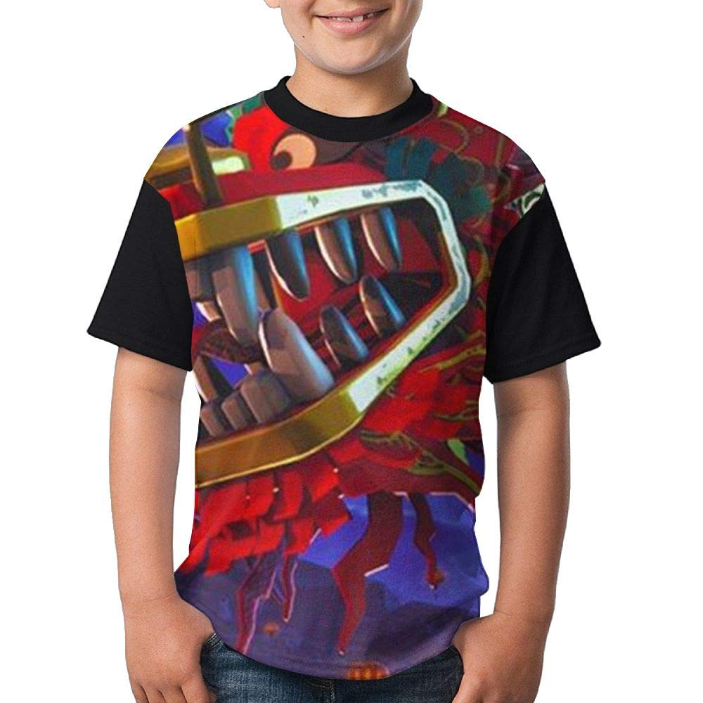 Dragon Landfall Kid's Boy's Girl's Short Sleeve Crew Neck Funny Tee Tshirts M
