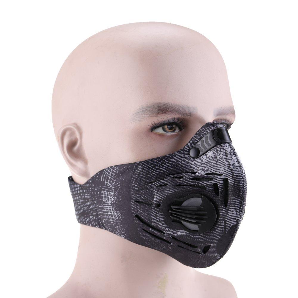 Masque de poussière, Vdealen à la poussière de charbon actif Masque Fitness Masque à la grippe Allergy Masque Masque Masque de cyclisme - Protection à partir de gaz d'échappement de filtration anti Po