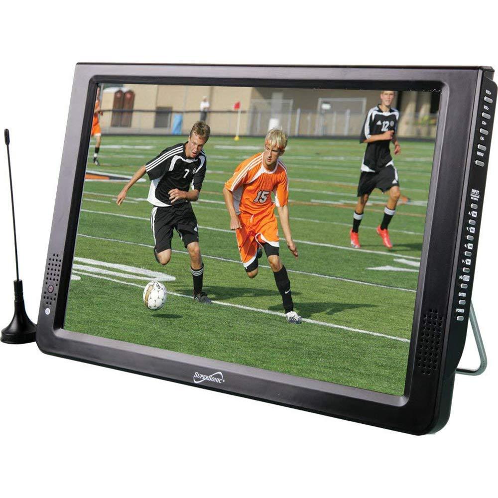 VGA Remote Control SD HDMI MMC USB Supersonic SC-2812 12 Portable Ultra Lightweight Widescreen LED TV