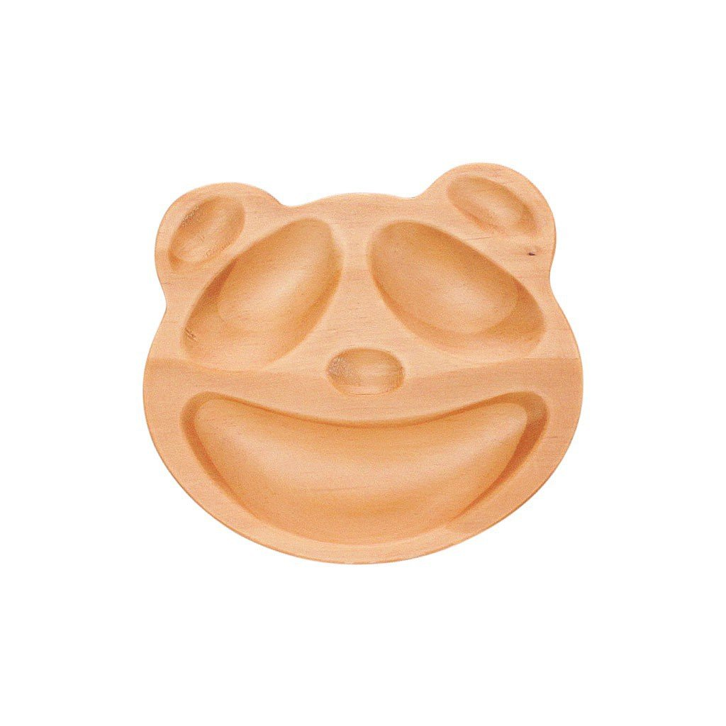 Time Concept Kids Petits Et Maman Wooden Panda Jr. Plate - Eco-Friendly, Handcrafted Dinnerware