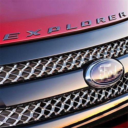 Vesul Glossy Black Hood Letters Emblem Explorer Name Plate Compatible with Ford Explorer 2011 2012 2013 2014 2015 2016 2017 2018 2019