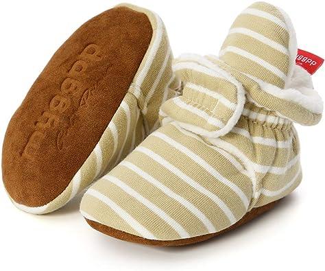 COSANKIM Baby Boys Girls Slippers Stay On Non Slip Soft Sole Newborn BootiesToddler Infant First Walker Crib Shoes