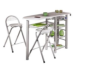 Links 50901190 Küchenbar weiß Küchentisch Küchentresen Tresen Tisch ...