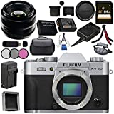 Fujifilm X-T20 Mirrorless Digital Camera (Silver) 16542359 35mm f/1.4 XF R Lens 16240755 Bundle