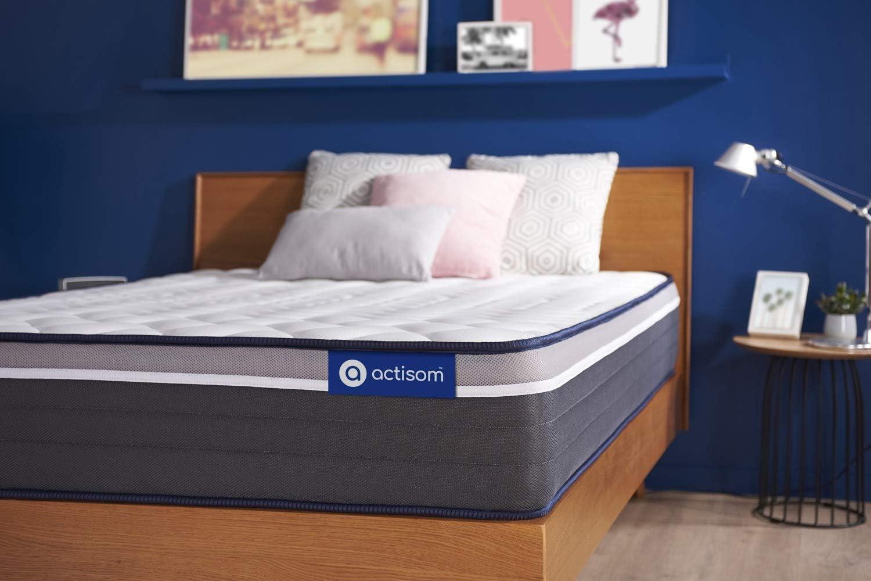 Confort : Tr/ès Ferme Matelas Actiflex Plus 90 x 190 cm Ressorts ensach/és et m/émoire de Forme Epaisseur : 26 cm 7 Zones de Confort