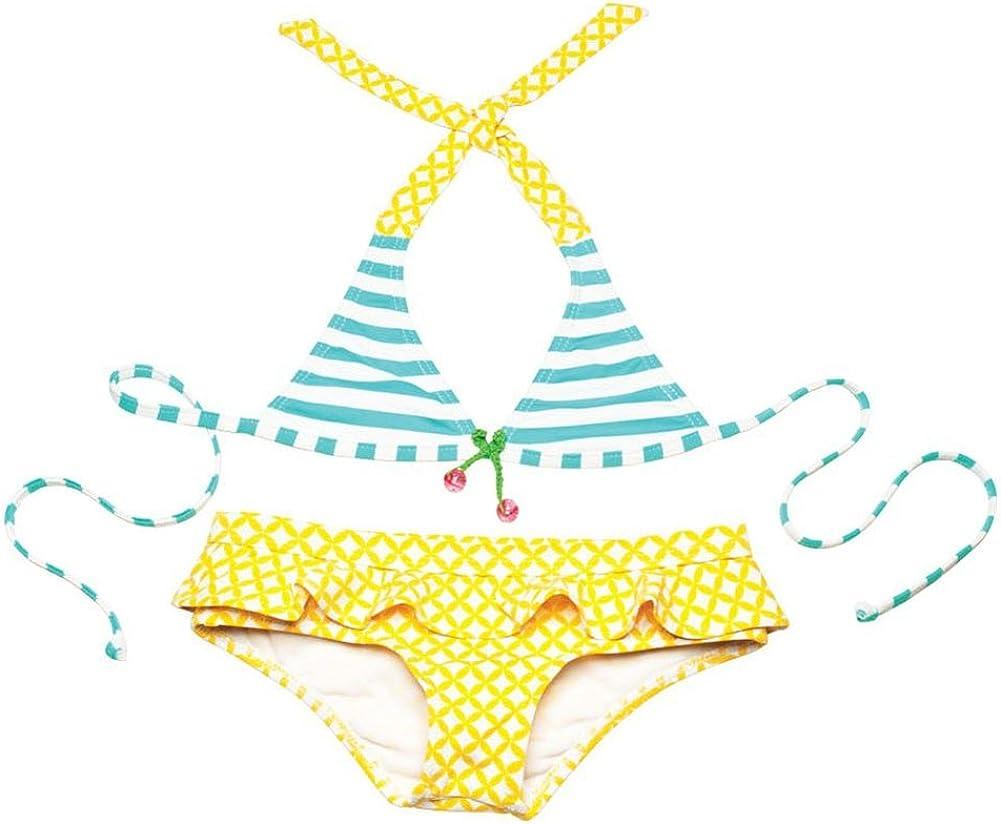 Lilo Tati Funky Cherry Halter Ruffle Bikini