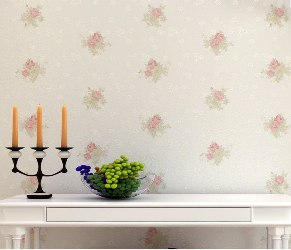 Korean Rural Non Woven Wallpaper Simple Warm Floral Wallpaper