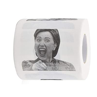 OUT Hillary Clinton Toilet Paper-Highly Collectible Novelty Toilet Paper-Perfect for Democrats or Republicans Hilarious-Funniest Political of 2020: Toys & Games