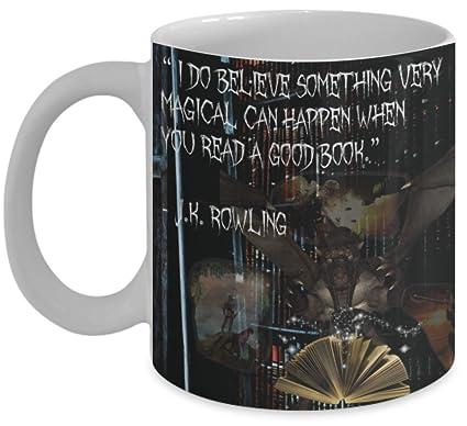 Amazoncom Book Lover Mug I Do Believe Something Very Magical Can