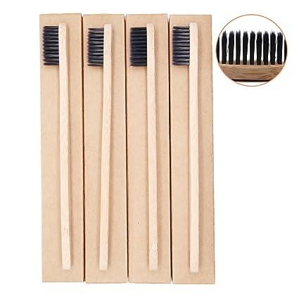 Cepillo de dientes de bambú hecho con carbón de bambú cepillo de dientes, progoco respetuoso