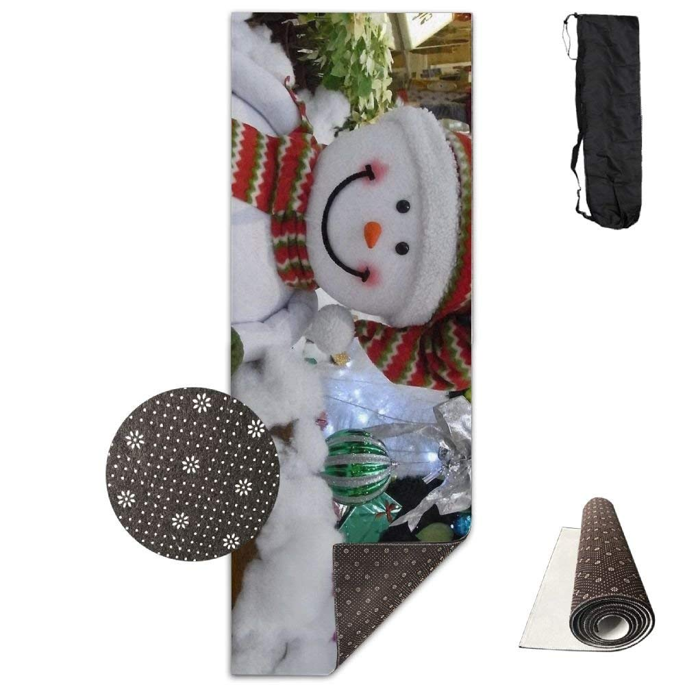 Snowman Smiling Cotton Tree Presents Christmas New Year Holiday ECO Aqua Power Kinematic Iyengar Kundini Hot Pilates Gymnastics Hatha Yoga Mat and Other Mats That Need to Be Performed On The Ground