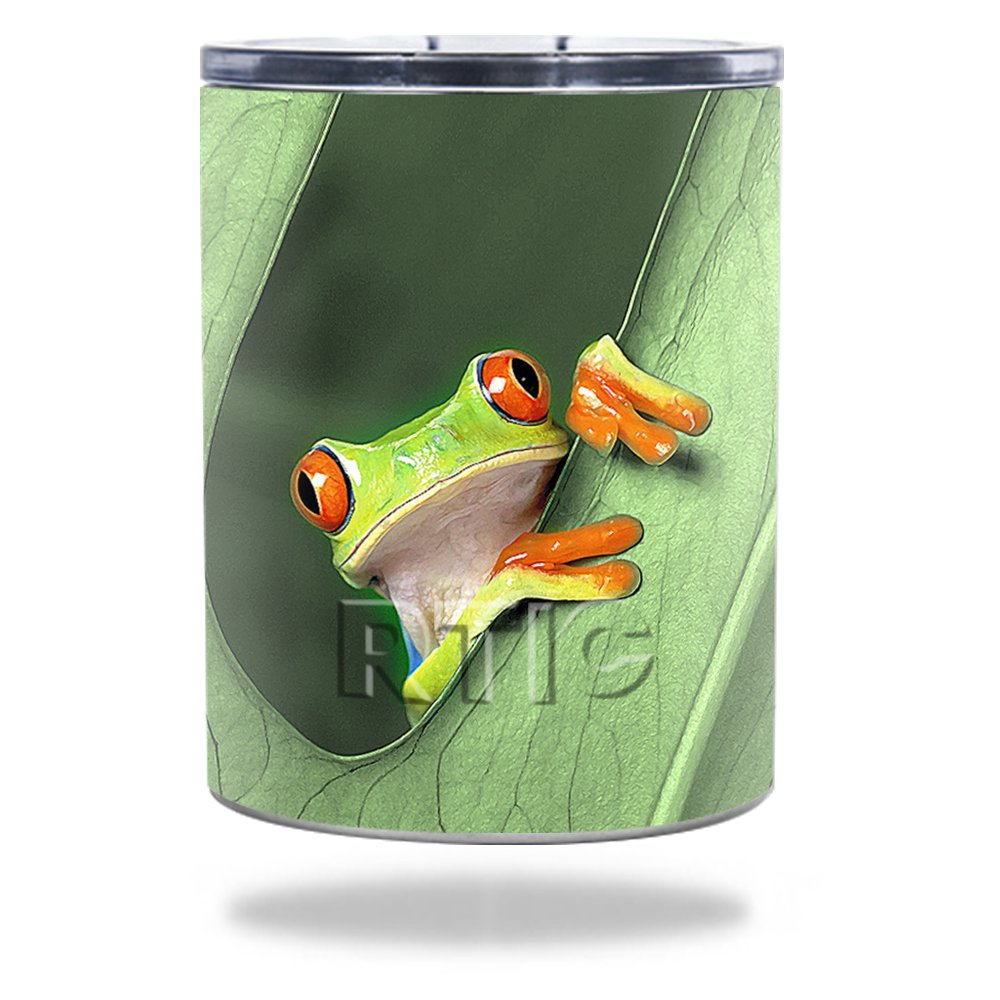 Amazon com mightyskins protective vinyl skin decal for rtic lowball 10 oz 2016 wrap cover sticker skins froggy automotive
