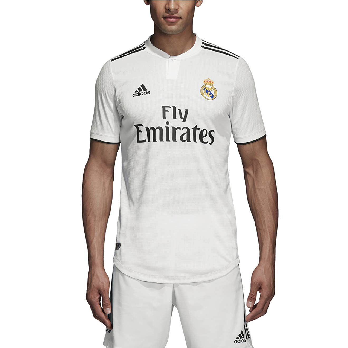 newest 1ed2b a2201 adidas 2018-2019 Real Madrid Home Authentic Jersey- White L