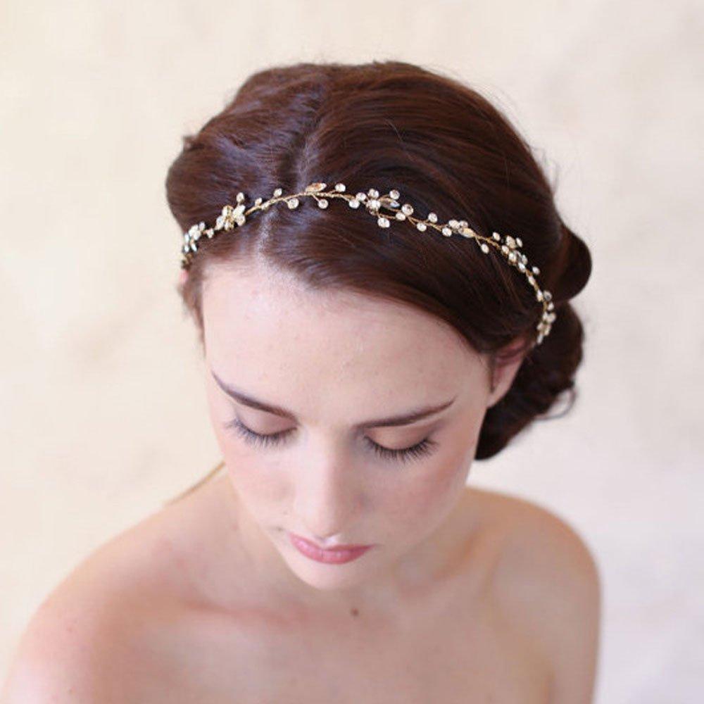 ideale per spose e matrimoni Coroncina per capelli decorata con cristalli alla moda Gracewedding