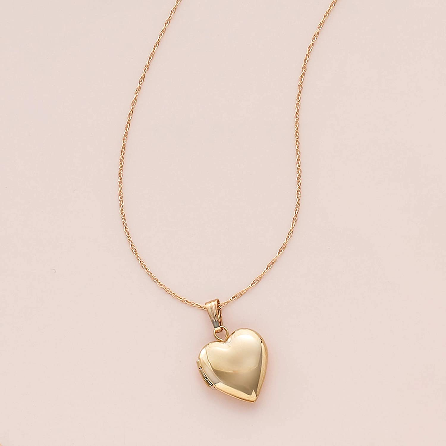 Ross-Simons Babys 14kt Yellow Gold Single Initial Heart Locket Necklace