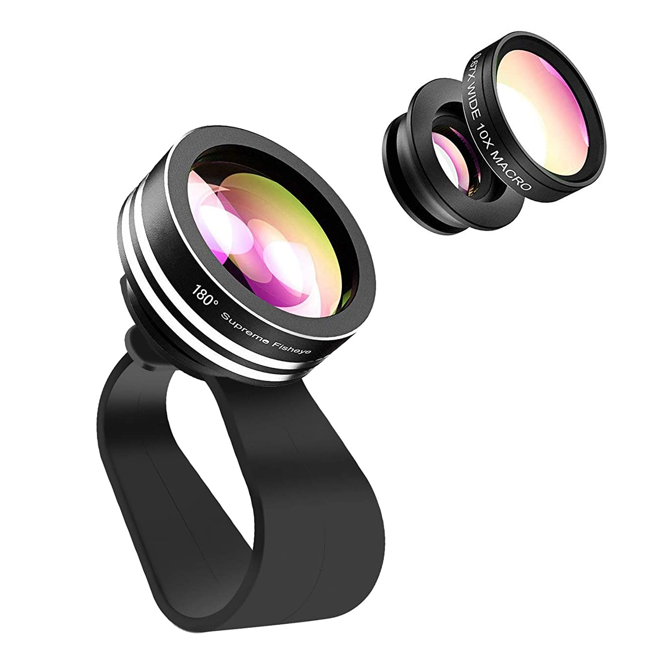 ステップツール資金iPhone X カメラレンズ 保護リング Sakula レンズガード メタル 傷防止 金属 ホールドリング (ブラック/レッド)