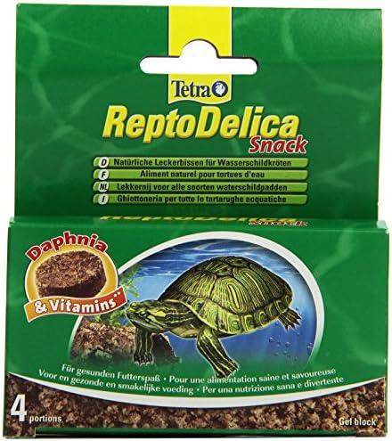 Tetra ReptoDelica Snack natuurlijke lekkernijen voor waterschildpadden met Daphniawatervlooien en vitaminen 4 afzonderlijke zakjes 12 g