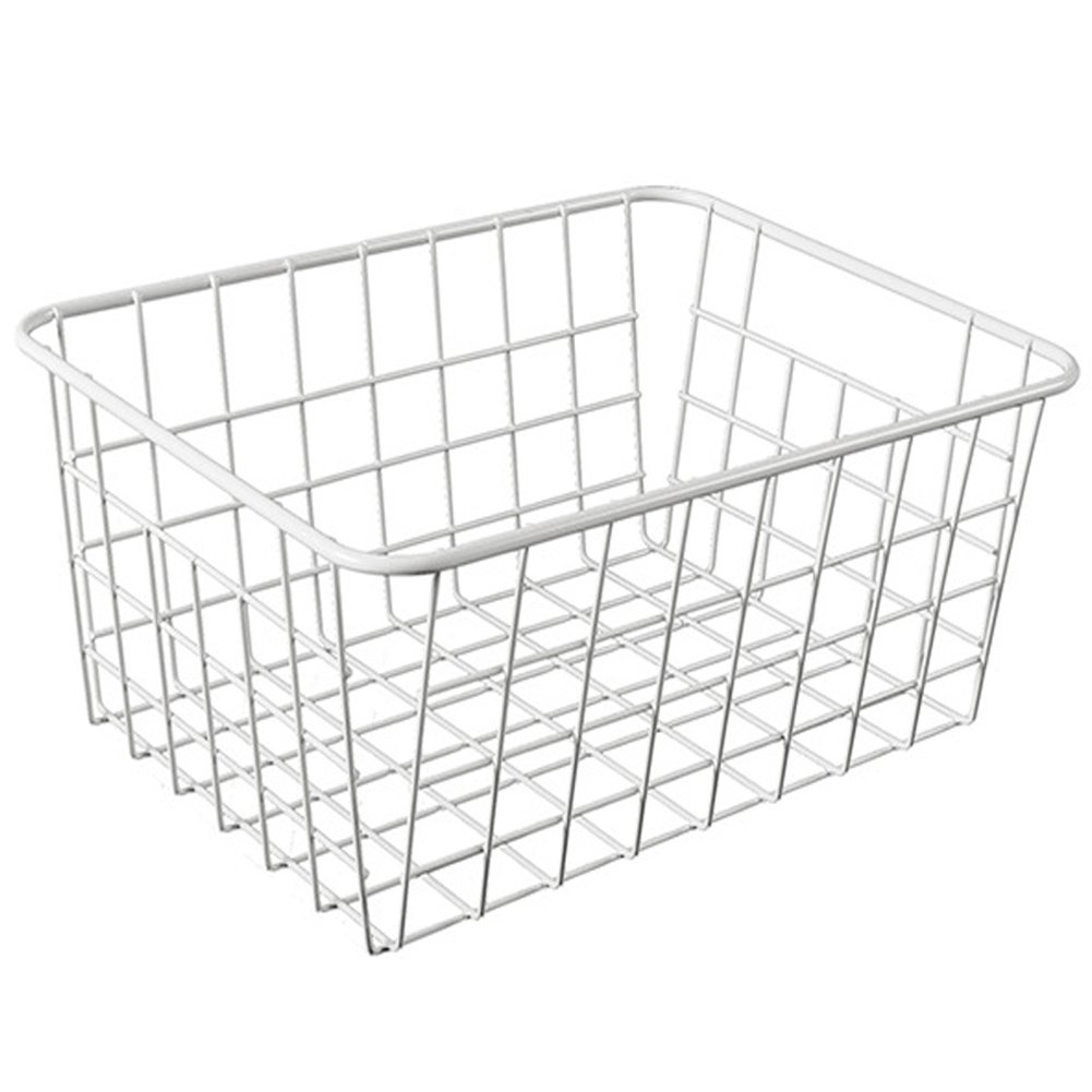 TEERFU Storage Basket Bins Organizer with Handles for Kitchen, Pantry, Freezer, Cabinet,Wire Bathroom Shelves Makeup Organiser UK101-993