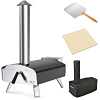 Mimiuo Portable Wood Pellet Pizza Oven with 13