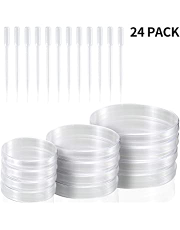 Globalflashdeal 20 Pack Sterile Plastic Petri Dishes 100mm Dia x 15mm Deep with Lid