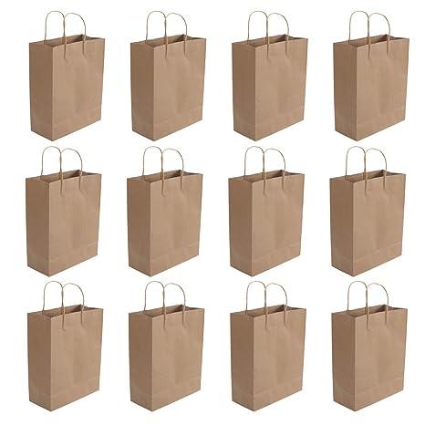 STOBOK 20 UNID Bolsas de papel Kraft con asa Compras Bolsas ...