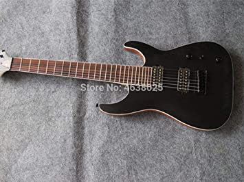 Guitarra eléctrica de 7 cuerdas, guitarra de caoba maciza: Amazon ...