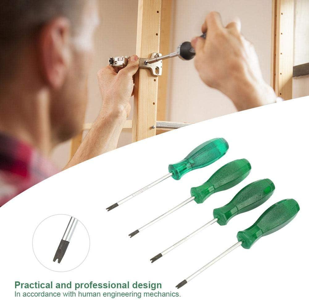 Tournevis de type U en forme de fourche tournevis /à t/ête cylindrique avec poign/ée en PVC transparent et tige de tournevis en acier S2