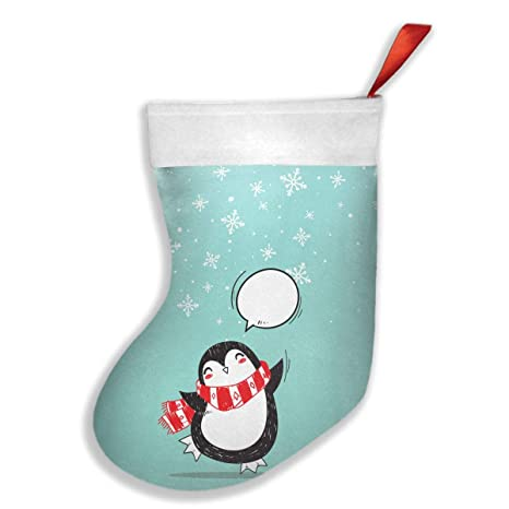 28dfef32205 Amazon.com  Christmas Penguin Xmas Holiday Party Decoration Christmas  Stockings Personalized Fantastic Design Mantel Decorations Ornaments Gifts  Holders  ...