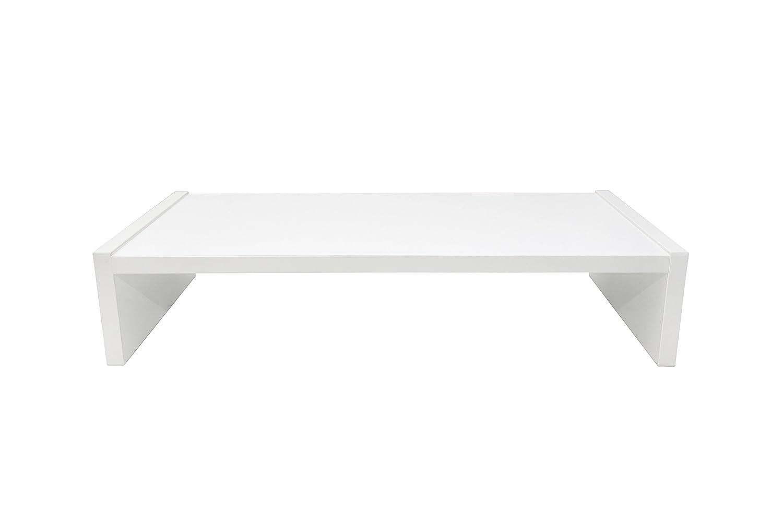 Hermesmöbel 'Design Monitor da TavoloSauerland supporto per monitor da scrivania Scaffale Supporto Bianco Lucido B/A/P 60x 12x 30cm