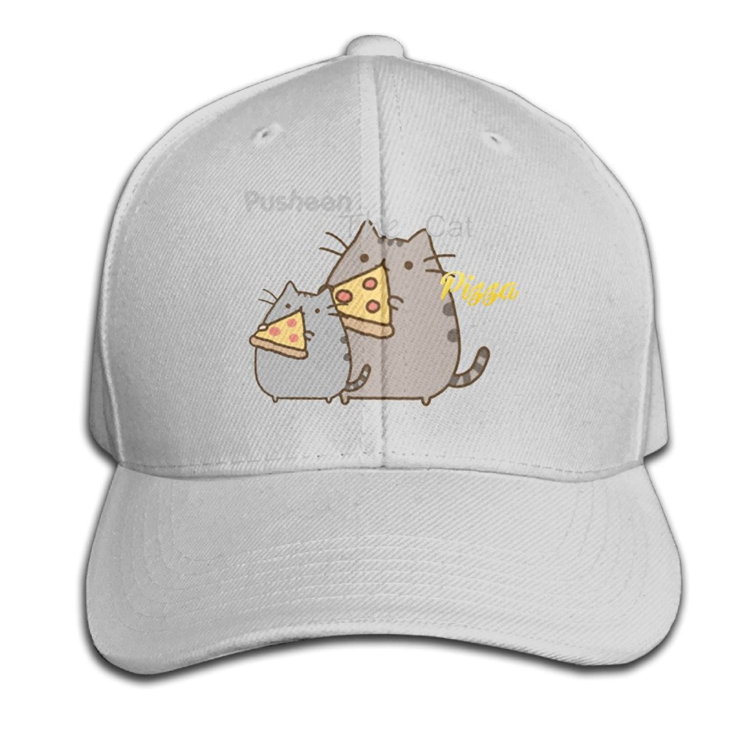 Boy Fitted Hats Pusheen Cat Pizza Adjustable Cheap Snapbacks