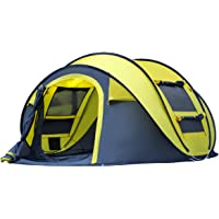 Qisan Automatic Camping Outdoor Pop-up Tent for Waterproof Quick-Opening Tents 4 Person Canopy with Carrying Bag Easy to Set up