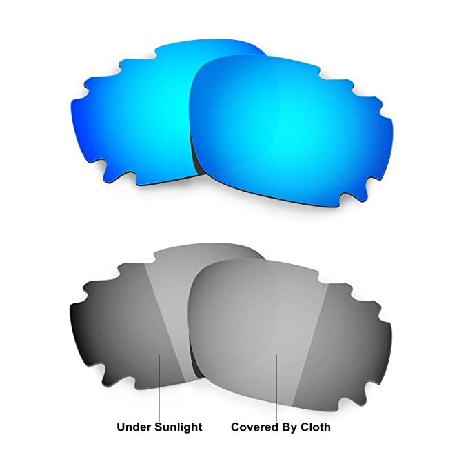 3f014d0daa2 Image Unavailable. Image not available for. Color  Hkuco Blue Transition Photochromic  Polarized Replacement Lenses For Oakley Jawbone Vented Sunglasses