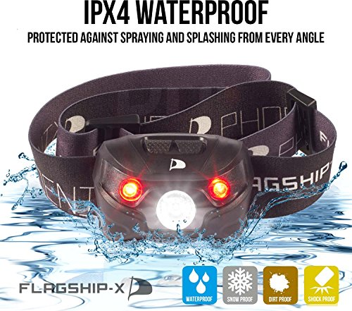 Flagship X Phoenix USB Rechargeable Waterproof LED Camping Headlamp Flashlight For Running