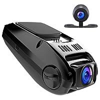 apeman Dashcam Autokamera GPS Dual Lens Full HD 1080P 170¡ã Weitwinkel mit G Sensor, WDR, Loop-Aufnahme, Bewegungserkennung