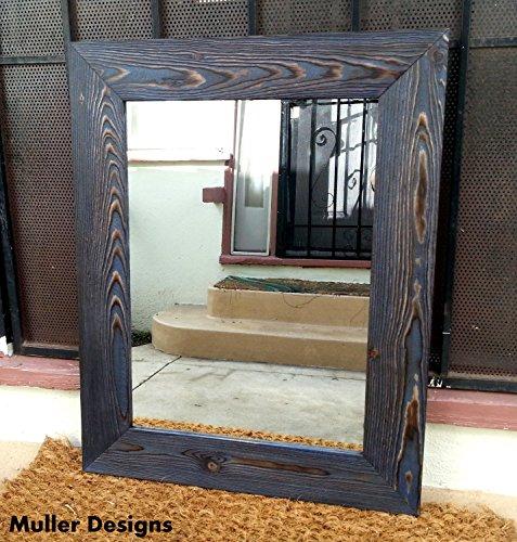 Wall mirror/ navy blue mirror / vanity mirrors/ bathroom mirrors / - Mirror Navy