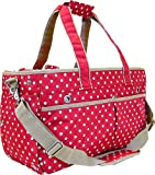 Comolife Cute Pet Carrier Bag for Dog & Cat , Design : Pop Dots , Color : Red , Size : H10.14 x W17.55 x D7.21 Inch review