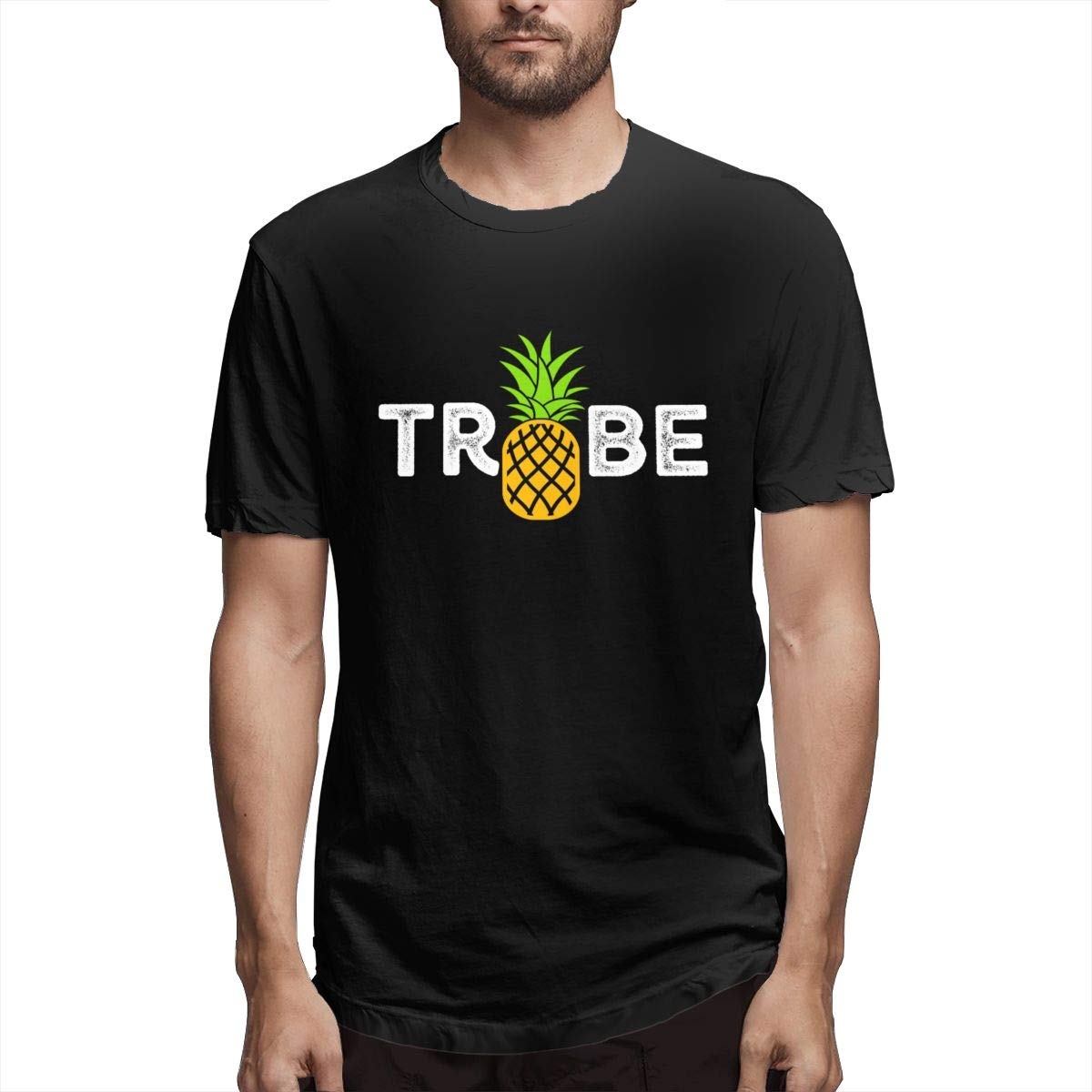 Xuforget Men Bride Tribe Pineapple Popular Short Sleeve T-Shirts Cotton Tops